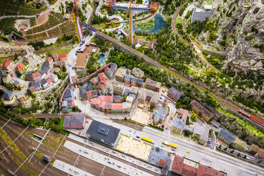 Hamburg Miniaturwunderland Draufsicht ohne Miniatureffekt