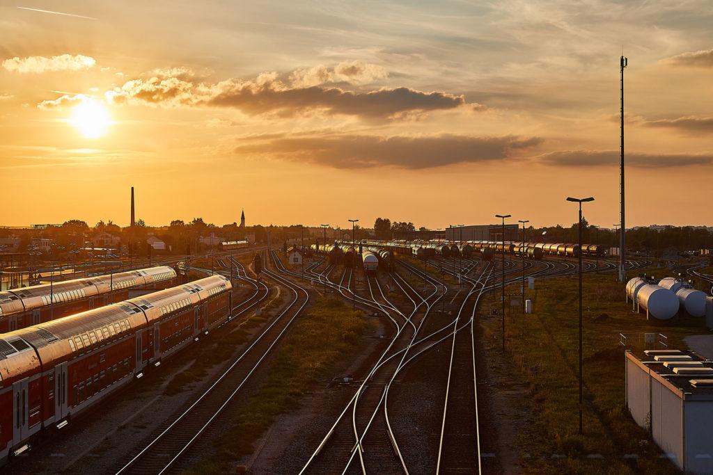 Gleisbereich zum Güterbahnhof